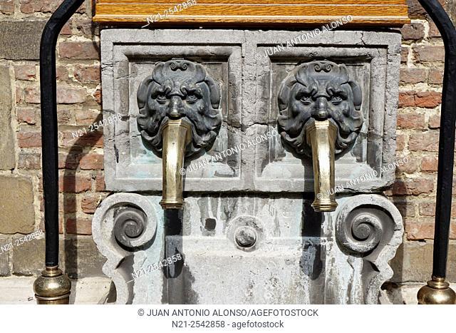 Fountain in the courtyard of the Rubenshuis -Rubens house -, Antwerp, Belgium, Europe