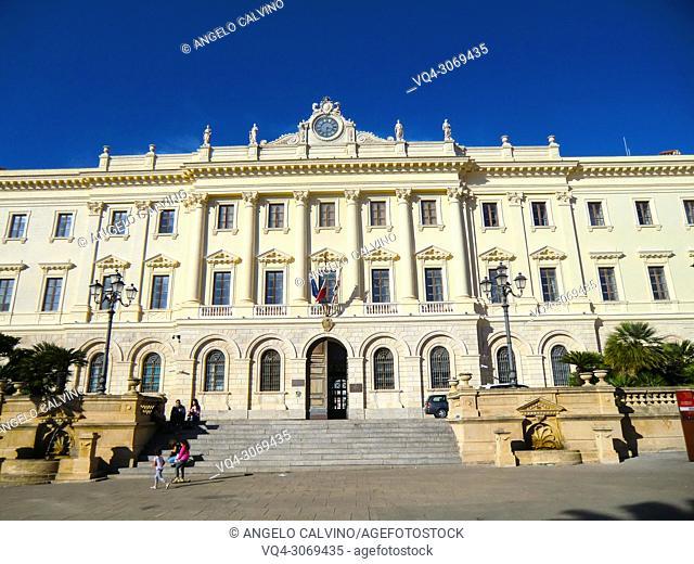 Palazzo della Provincia at Piazza Italia, Sassari, Sardinia, Italy