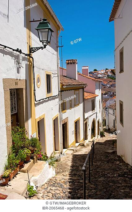 Medieval street, Castelo de Vide, Alentejo, Portugal, Europe