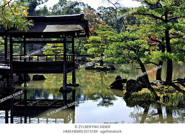 Japan, Honshu island, Kansai, Kyoto, listed as World Heritage by UNESCO, Kinkaku-ji temple gardens