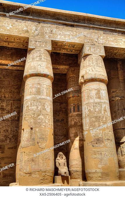Columns in the Great Hypostyle Hall, Karnak Temple, Luxor, Egypt