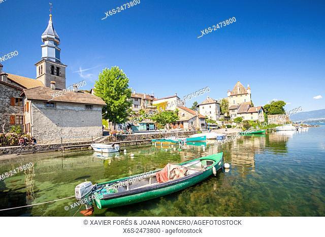 Port des Pêcheurs in Yvoire village in Haute-Savoie, Rhône-Alpes, France