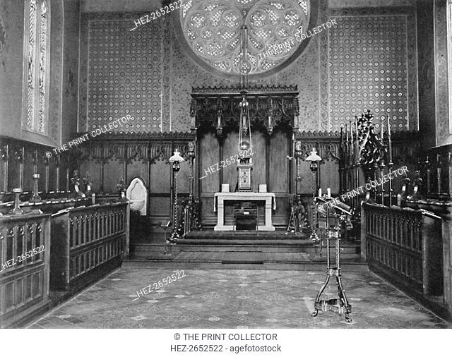 'The Chancel, Catholic Apostolic Church, Albury Park', 1904. Albury Park is a country park and Grade II listed historic country house (Albury Park Mansion) in...