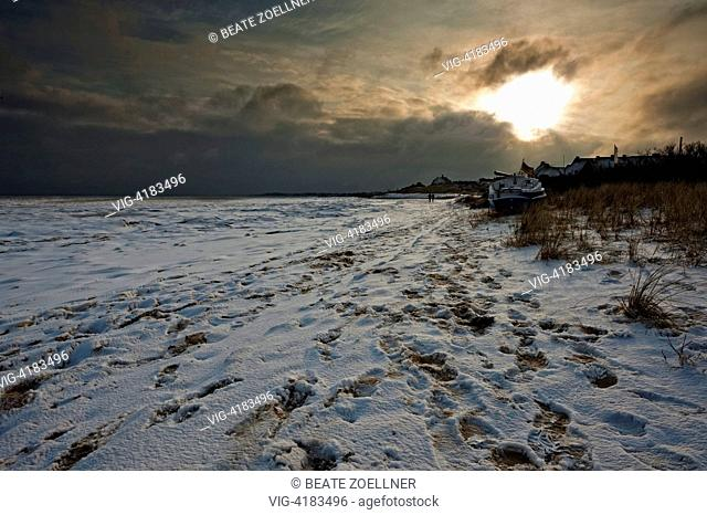 Winter on Sylt - Munkmarsch/Sylt, Schleswig-Holstein, Germany, 02/01/2010