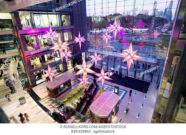 Christmas Stars Atrium Time Warner Center Columbus Circle Manhattan New York USA