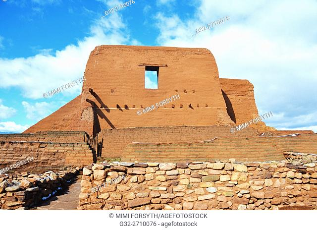 Ruins of Franciscan mission church, Pecos, New Mexico, USA