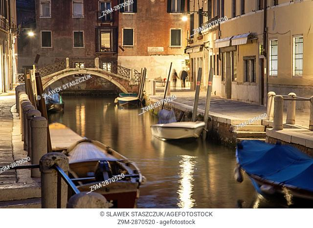 Evening in Dorsoduro district of Venice, Italy