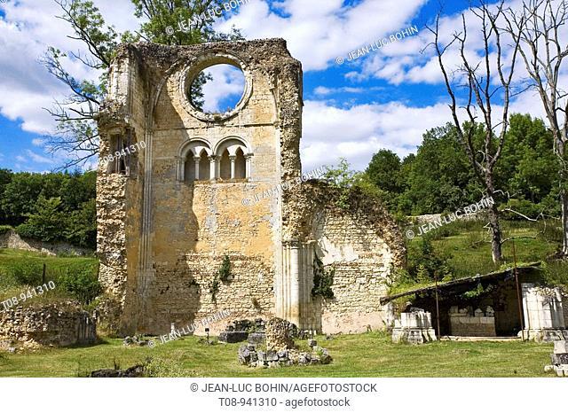 france, normandie, eure : abbaye, Mortemer: ruines