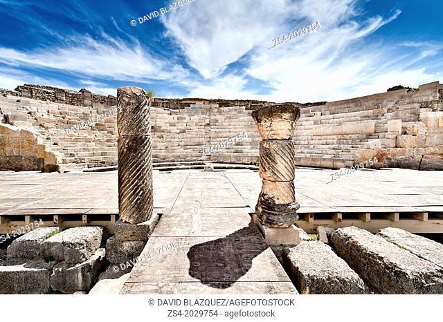 segobriga roman theater, saelices, cuenca, castilla la mancha, spain