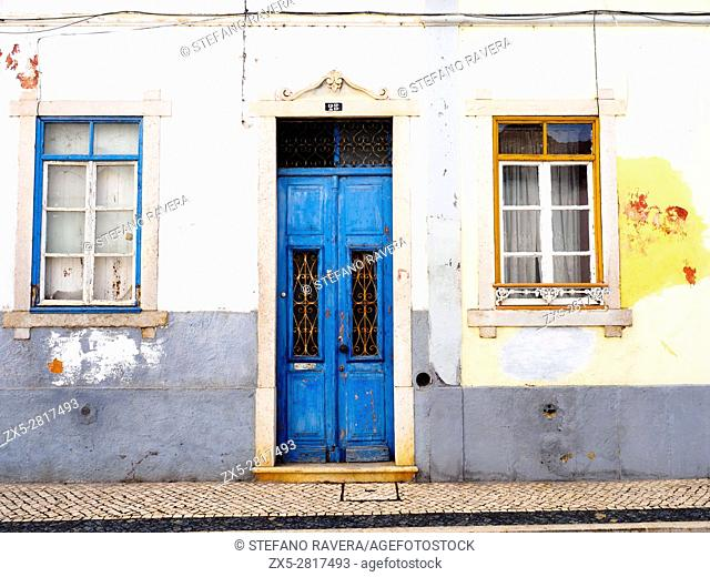 Facade in the old town of Faro - Algarve region, Portugal