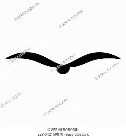 Bird it is black color icon