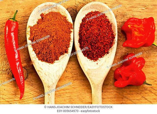 Chili Cayenne and bishop's crown with chili powder
