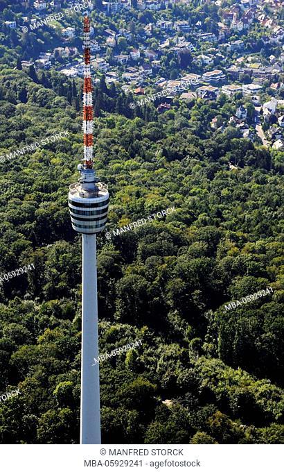 Aerial picture, Stuttgart-Degerloch, television tower