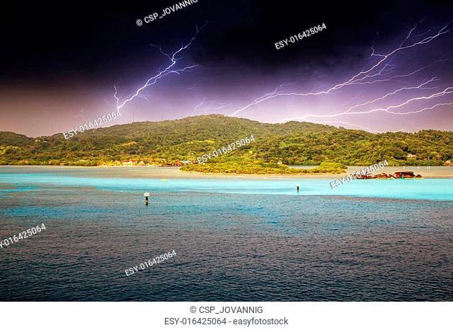 Dramatic Sky above Caribbean Island