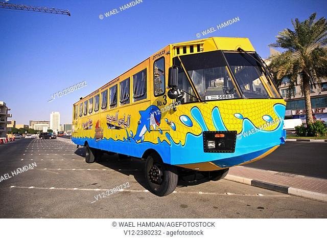 Wonder bus at the Dubai creek.UAE