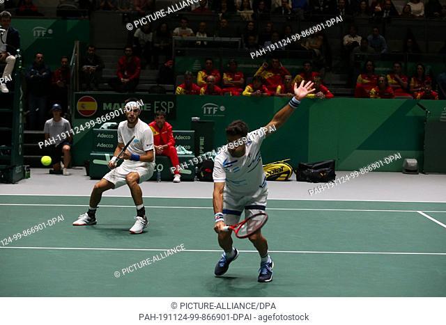 22 November 2019, Spain, Madrid: Doubles Argentina vs. Spain, for Quarterfinals of Davis Cup, in Madrid, Spain, november 22nd, 2019