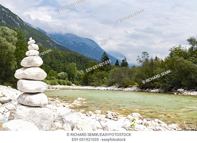 River Soca near Bovec, Slovenia
