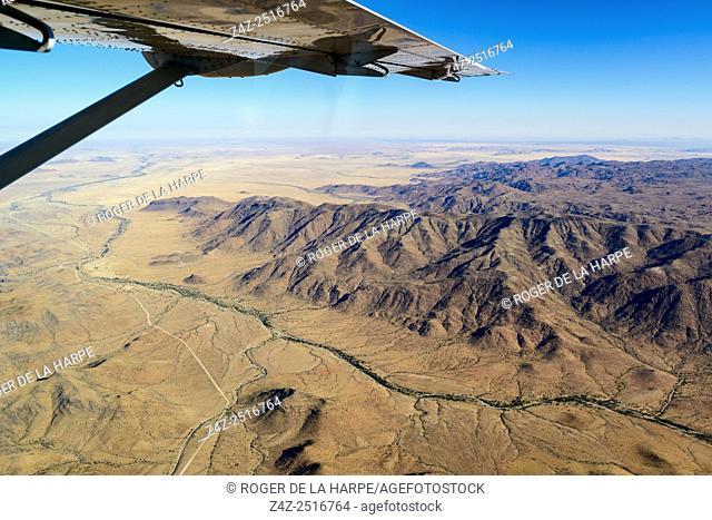 Naukluft mountains at Sossusvlei. Namib-Naukluft National Park. Namibia