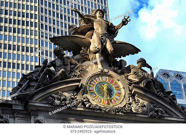 Grand Central Terminal Facade, Murray Hill, Manhattan, New York, Usa