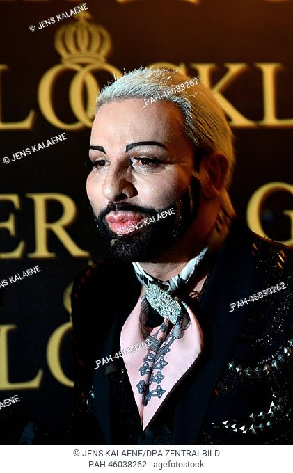 Fashion designer Harald Gloeoeckler poses in a gallery in downtown Berlin, Germany, 04 February 2014. Gloeoeckler invited Lollobrigida for a reception held on...