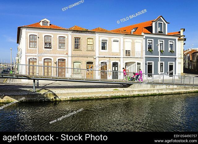 canal de San Roque, Os Botiroes, Aveiro, Beira Litoral, Portugal, europa