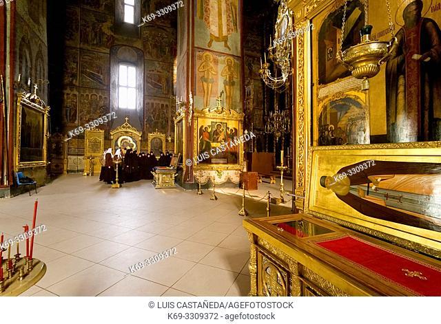 Trinity Monastery of St. Sergius. . Lavra (Moscow) Russian Federation