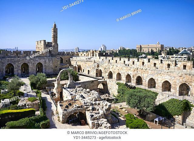 Jerusalem Israel. The tower of david citadel