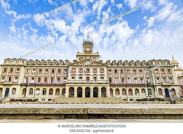 Town hall. Municipal Palace, in the Plaza de Armas. Ferrol, A Coruña, Galicia, Spain, Europe