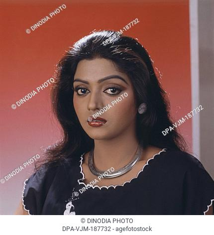 1989, Portrait of Indian film actress Bhanupriya