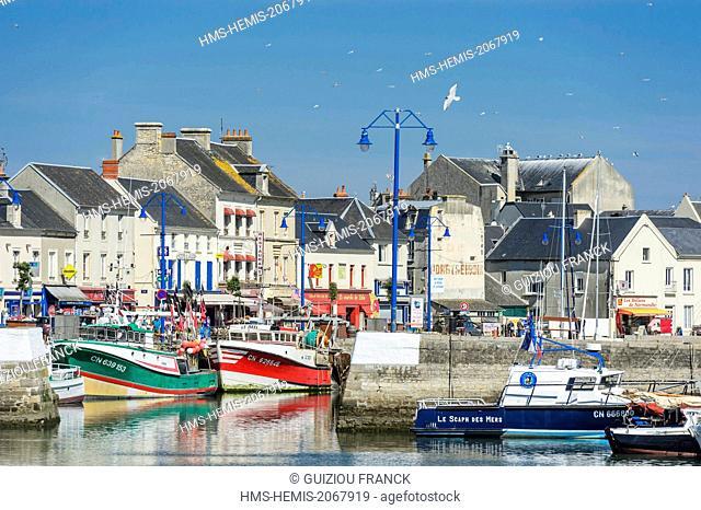 France, Calvados, Port en Bessin