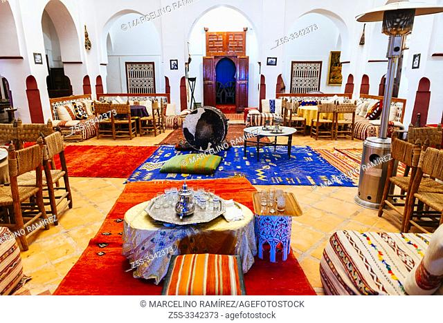 Interior. The Kasbah of Tifoultoute is a kasbah in Ouarzazate Province. This fortress belonged to the family of Thami El Glaoui