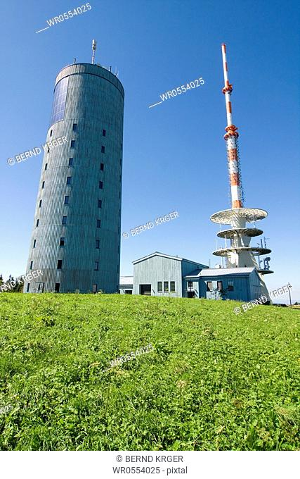 Weather station on the big island mountain in Thuringia
