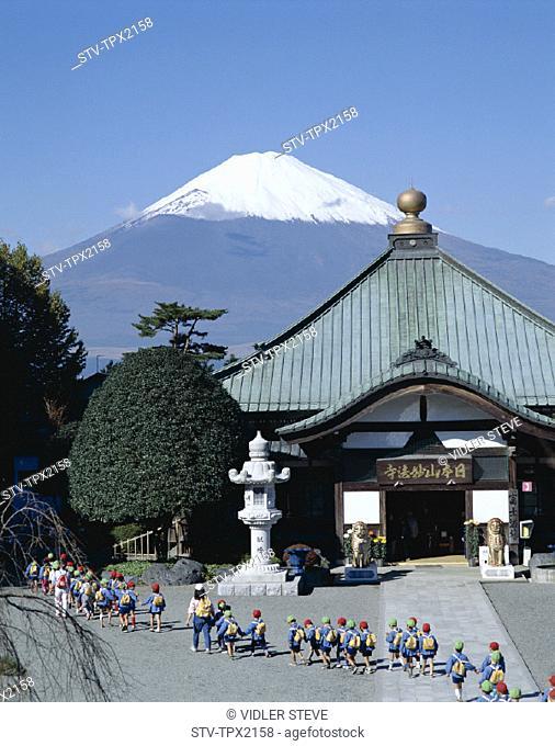 Asia, Children, Holiday, Honshu, Japan, Landmark, Mount fuji, School, Temple, Tourism, Travel, Vacation