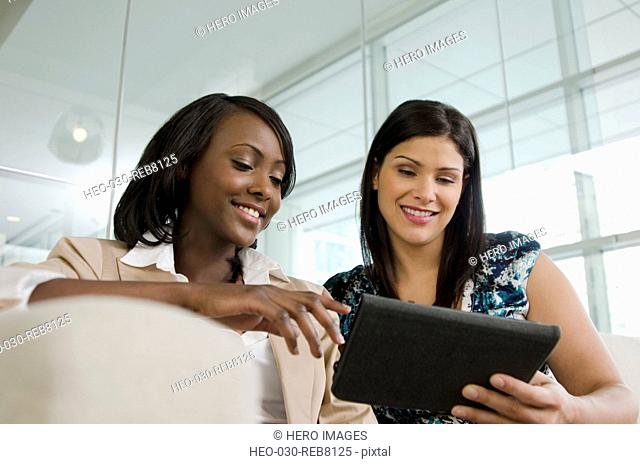 two businesswomen planning