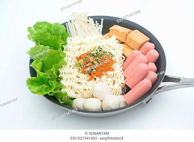 instant noodle Korean style, food