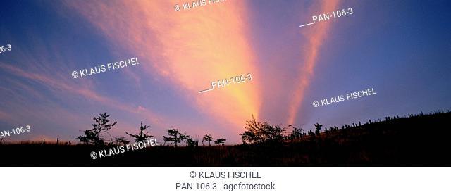 Sunset clouds, Northumberland, England