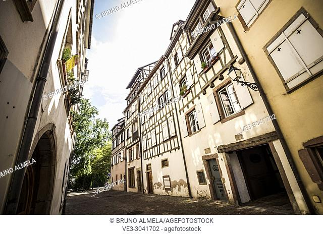 Medieval houses in Colmar, Alsace (department of Haut-Rhin, region of Grand Est, France)