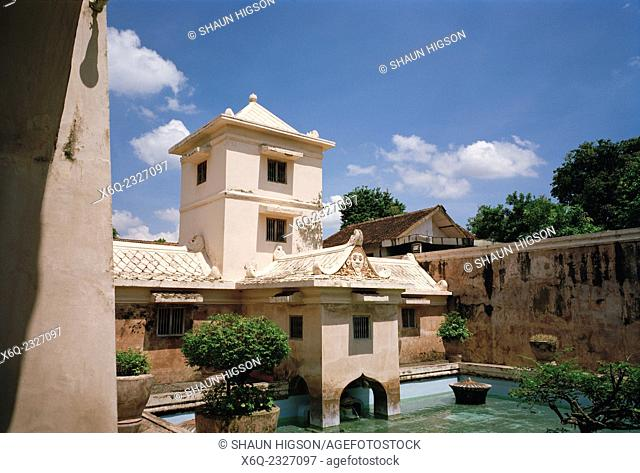 The Taman Sari Water Castle complex in Yogyakarta in Java in Indonesia in Southeast Asia Far East