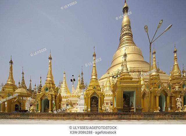Shwedagon pagoda, Yangon, Myanmar, Asia