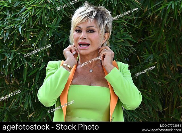 Carmen Russo attend broadcast Tale e Quale show photocall in the Rai studios Dear. Rome (Italy), September 16th, 2020