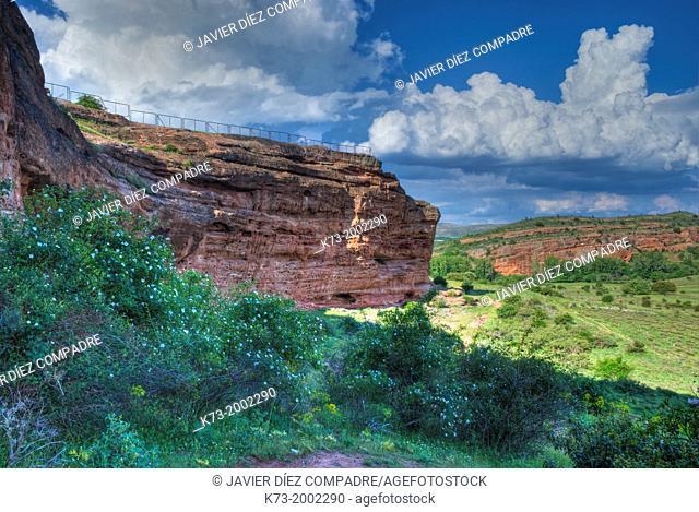 Collective Dwelling Area. Celtiberian and Roman Archaeological Site of Tiermes. Montejo de Tiermes. Soria Province. Castilla y Leon. Spain
