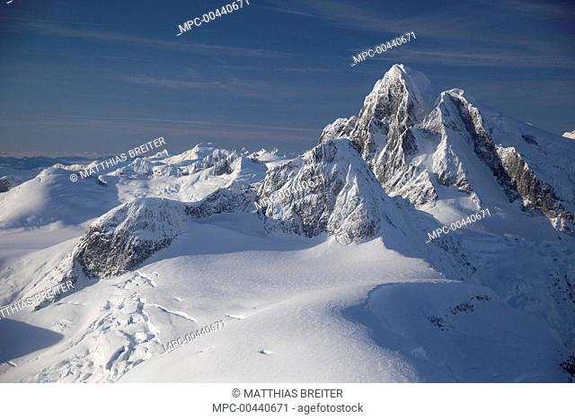 Castle Peak in the Stikine Icecap region near Petersburg, Tongass National Forest, Alaska