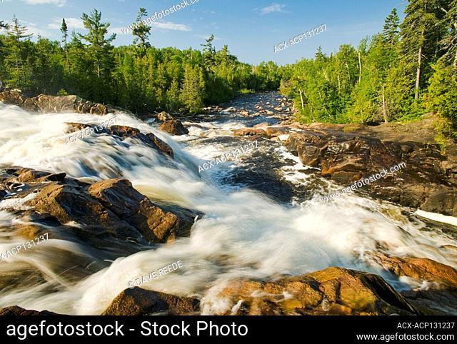 waterfalls, Sand River, Lake Superior Provincial Park, Ontario, Canada