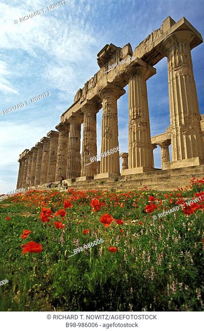 Facade of the Temple of Hera, Selinunte, Sicily, Italy