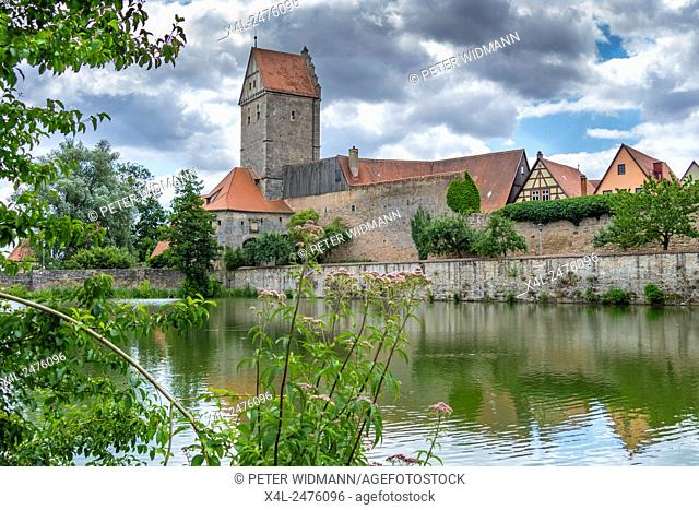 Rothenburger Gate, Dinkelsbuhl, Romantic Road, Middle Franconia, Bavaria, Germany