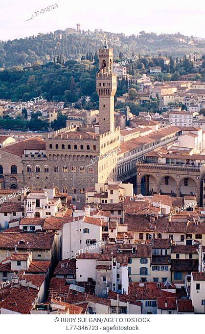 Palazzo Vecchio tower. Florence. Tuscany, Italy