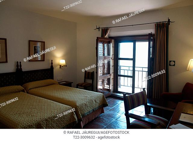 Jaén (Spain). Interior of a hotel room in the city of Jaén