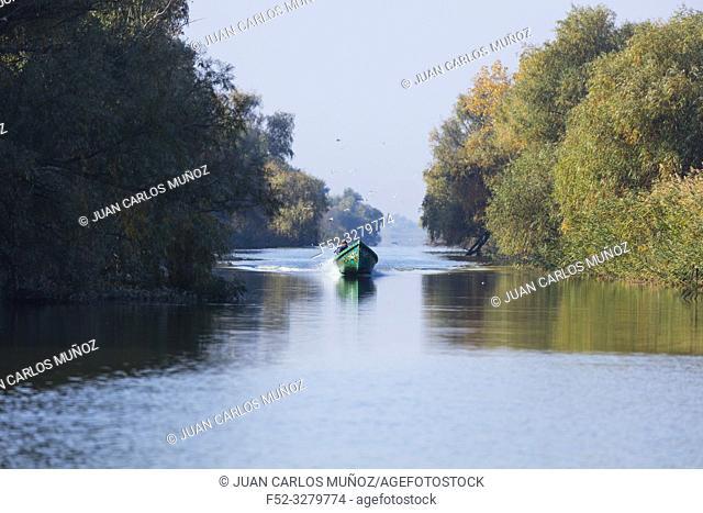 Fisherman, Danube Delta, UNESCO WORLD HERITAGE, Tulcea County, Romania, Europe