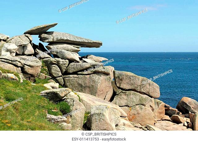 Pulpit rock, St. Mary\'s Isles of Scilly, Cornwall UK