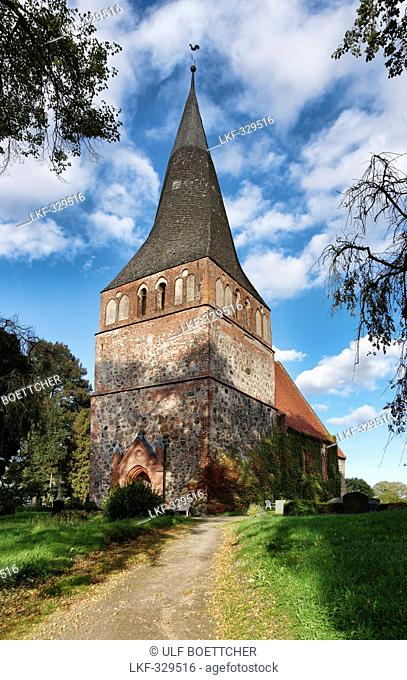 Church, Kittendorf, Mecklenburg Switzerland, Mecklenburg-Western Pomerania, Germany